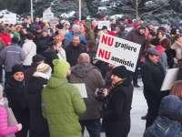 VIDEO & FOTO - PROTEST: Băimărenii spun NU grațierii și amnistiei
