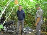 VIDEO: Ţigări de contrabandă transportate cu mopedul la Sarasău