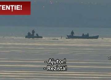 VIDEO - Înregistrarea CUMPLITĂ cu strigătele de ajutor ale pilotului elicopterului prăbușit în lacul Sutghiol, cel mai probabil TRUCAT