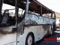 VIDEO: MARAMUREȘ – Autocar cu 37 de elevi, în flăcări pe Mesteacăn