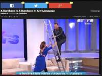 VIDEO - Mihai Morar, de râsul lumii în presa internaţională, după căzătura din platou