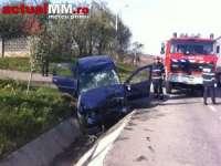 VIDEO - O doctoriță din Sighet a fost ranită într-un accident rutier