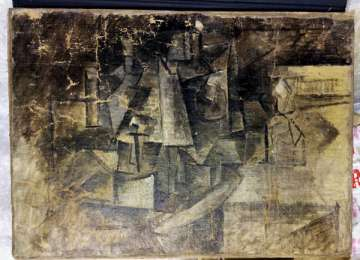 VIDEO: O pânză de Picasso găsită într-un pachet poștal în SUA va fi restituită Franței