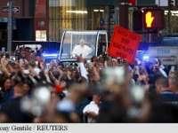 VIDEO: Papa Francisc a fost primit ca o vedetă la New York