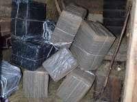 VIDEO: Peste 14.000 de pachete cu țigări de proveniență ucraineană confiscate de polițiștii de frontieră maramureșeni
