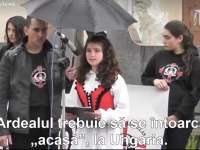 """VIDEO - Poezii patriotice la Odorheiu Secuiesc: """"Ardealul trebuie să se întoarcă acasă, la Ungaria!"""""""