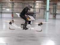 VIDEO - Prima motocicletă zburătorare din lume