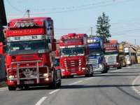 VIDEO: PROTESTE ÎN BAIA MARE – Transportatorii maramureșeni au ieșit pe străzi