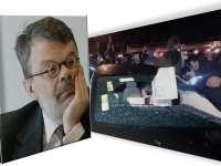 VIDEO: Proteste în București - luneta maşinii ministrului Culturii a fost spartă