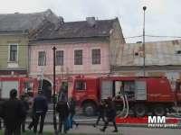 VIDEO: SIGHET - Foc la o casă din centrul Sighetului din cauza coşului de fum