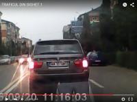 VIDEO - SIGHET: Pentru că are BMW, se crede Regele șoselelor. Vezi ce a făcut acest conducător auto