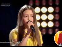 VIDEO - Sigheteanca Francesca Hojda, interpretare deosebită la Vocea României Junior