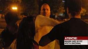 VIDEO - ȘOCANT: Şeful HINGHERILOR din București a luat la BĂTAIE mai multe persoane de faţă cu POLIŢIA