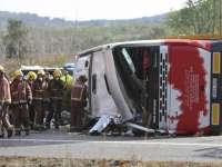 VIDEO - Spania: Cel puțin 14 persoane au murit într-un accident în care a fost implicat un autocar cu studenți Erasmus