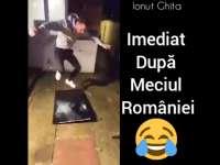 VIDEO - Supărat că România a pierdut în fața Albaniei, un bărbat și-a aruncat plasma de la etaj după care a făcut-o țăndări