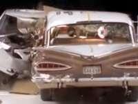 VIDEO: Test de impact între o mașină din 1959 și una din 2009