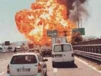 VIDEO - Totul a fost ras în cale de explozia cisternei cu GPL petrecută în apropierea aeroportului din Bologna