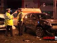 VIDEO: Trei persoane rănite aseară într-un accident, în Baia Mare