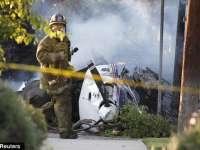 VIDEO: Un avion s-a prăbuşit peste un parc de rulote în SUA