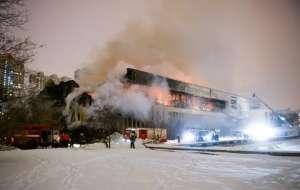 VIDEO: Un incendiu a distrus cea mai mare bibliotecă universitară din Rusia