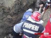 VIDEO: Un maramureșean a fost prins sub un mal de pământ