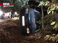 VIDEO - Un șofer beat s-a răsturnat cu mașina la Cătălina. Două persoane rănite