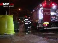 VIDEO - VANDALISM: Mai multe containere de gunoi din Baia Mare au fost incendiate