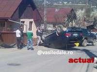 VIŞEU DE SUS – S-au răsturnat cu mașina condusă de un șofer fără permis