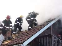 Vișeu de Sus - Incendiu la pensiunea La Casa