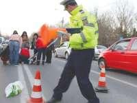 VIȘEU DE SUS - Un băiat de 10 ani, victimă a unui accident auto ca urmare a traversării neregulamentare a străzii
