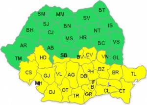 VREMEA - Cod galben de ninsori pentru jumătate de țară