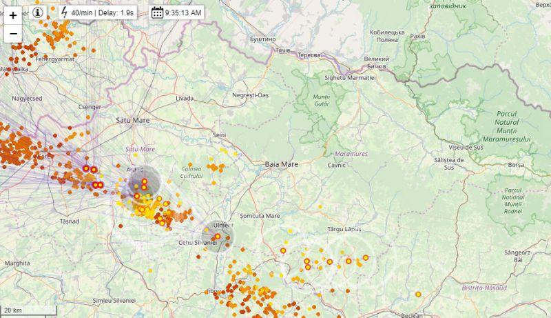 ATENȚIE! - COD GALBEN de vreme severă în Maramureș. Ploi torențiale, descărcări electrice, vijelii și grindină