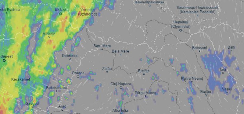 ATENŢIE! - COD GALBEN de instabilitate atmosferică, în Maramureș începând cu ora 12. Sunt așteptate vijelii și grindină