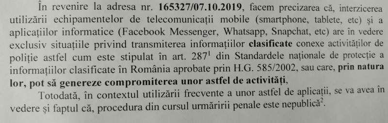 Whatsapp, Facebook şi Snapchat, interzise pentru poliţiștii români