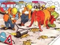 Așa se asfaltează drumurile în Sighet