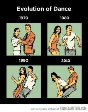 Cum a evoluat dansul din 1970 si pana  in 2012