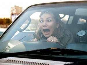 VIDEO - Femeie la volan în Sighet